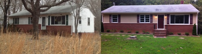 Gut Renovation Before and After by Loudoun Contracting